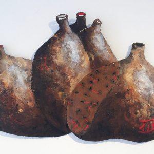 Jan Verschueren, Vazen blazen , schrootmateriaal en verf