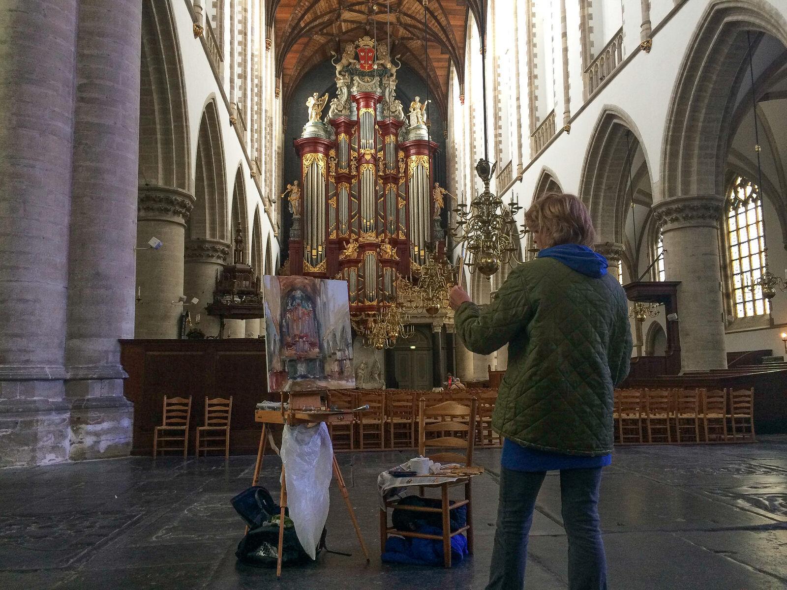 Dorien van Diemen, Interieur Bavo Haarlem , Dorien van Diemen schildert de Bavo Haarlem van binnen