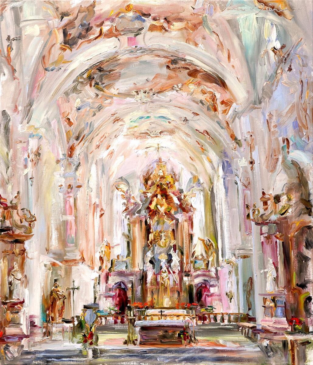 Dorien van Diemen, 'Rottenbucher Kirche' , Rottenbucher Kirche, Germany 70 x 60 cm.