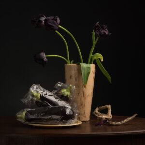 Ursula, Eggplant foto op dibond , foto op dibond