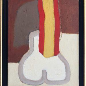 Ed Dukkers, 890640 , 1981,olieverf 24 x 30 cm. 750