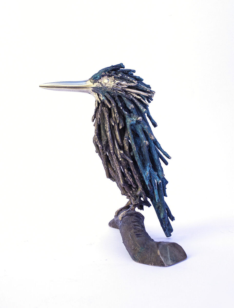Barbara Perquin, IJsvogel , brons unicum