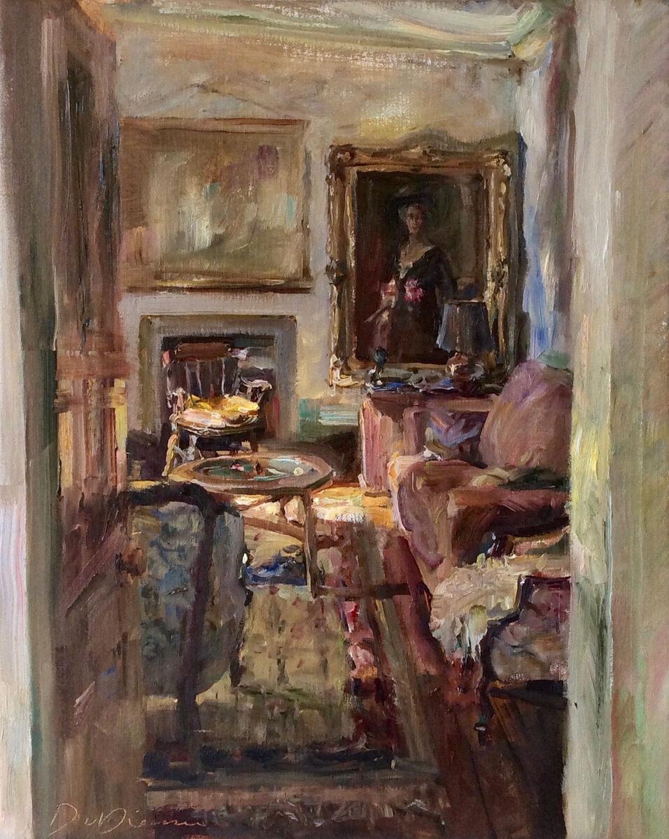 Dorien van Diemen Interieur, Auchencleith Schotland. olieverf op doek 50 x 40