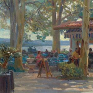 Hans Versfelt  'Terras onder de platanen'